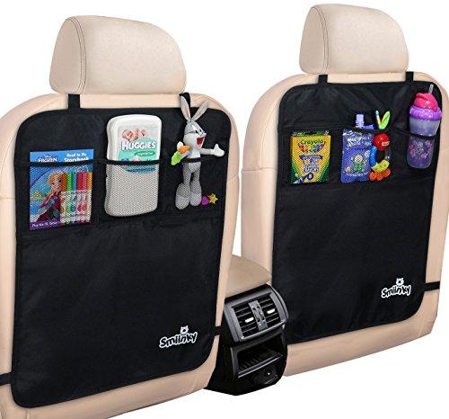 [해외]주최자가있는 킥 매트 - 자동차, SUV, 미니 밴 또는 트럭 시트 용 프리미엄 뒷좌석 보호대 시트 커버 - 차량 뒷 시트 어린이 안전 장치/Kick Mats With Organizer - Premium Backseat Protector Seat Covers For Your Car, SUV, Minivan or Truck Se...