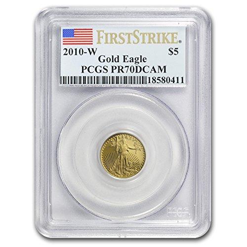2010 W 1/10 oz Proof Gold American Eagle PR-70 PCGS (FS) Gold PR-70 PCGS
