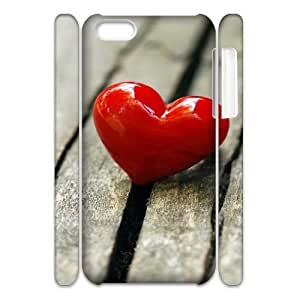 MEIMEI ipod touch 5 Case 3D, Red Heart On The Ground Case for ipod touch 5 white lmipod touch 5172941LINMM58281
