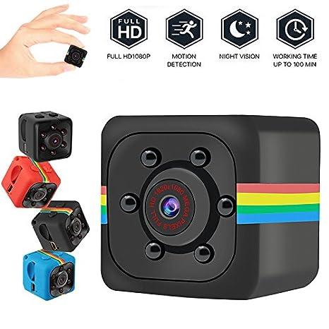 LVYIMAO Cámara Oculta en Miniatura Cámara portátil HD Cámara de Cubos con visión Nocturna Detección de Movimiento Grabadora de cámara: Amazon.es: ...