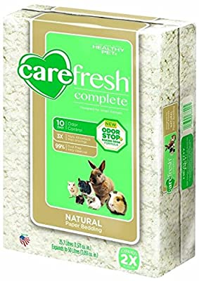 carefresh Complete Natural Paper Bedding for Small Animals, 50 L by Absorption Corp.