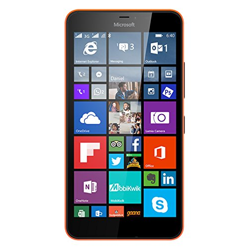 Microsoft Lumia 640 XL 8GB Unlocked GSM Quad-Core WIndows Smartphone w/ 13MP Camera – Orange (Certified Refurbished)