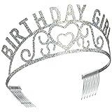 Beistle 60632 Glittered Metal Birthday Girl Tiara