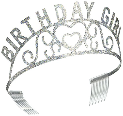 Birthday Tiaras (Beistle 60632 Glittered Metal Birthday Girl Tiara)