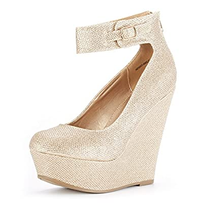 DREAM PAIRS Women's Height-Ankle Fashion Wedge Platform Pumps Shoes