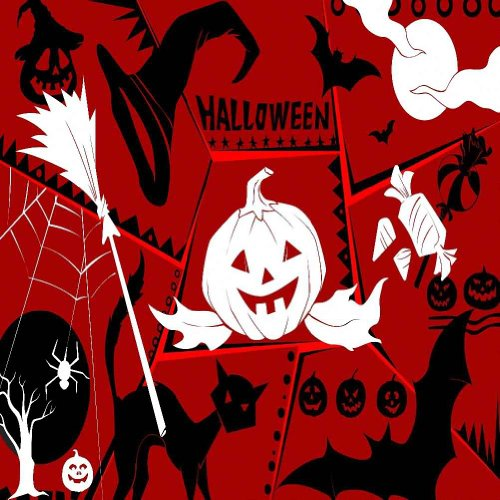 GladsBuy Lively Halloween 8' x 8' Digital Printed Photography Backdrop Halloween Theme Background YHA-338