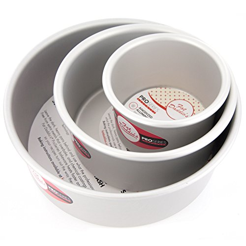 Cake Pan Set of 3, Round 3 Inches (4 inch, 6 inch, 8 inch) by Fat Daddios