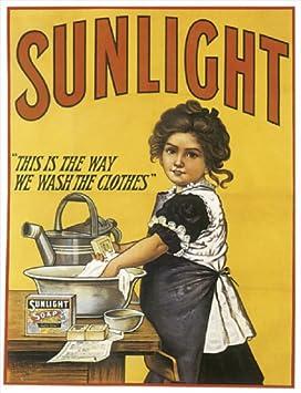 Sunlight Savon Rétro Style Vintage Métal Plaque Murale Signe