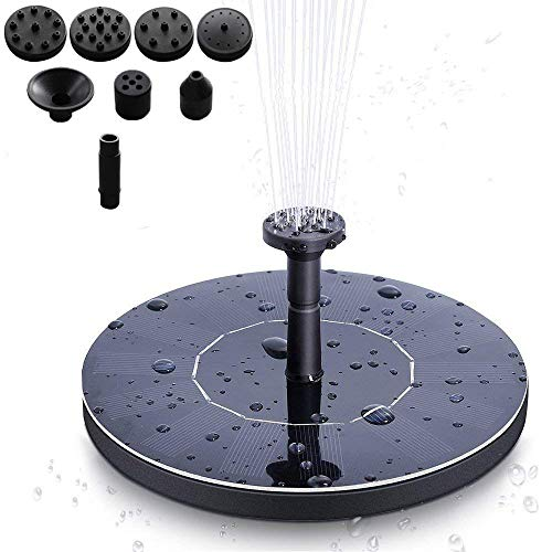 MSDADA Solar Fountain Pump for Bird Bath, Free Standing Solar Birdbath Fountain,1.4W Solar Powered Water Pumps Submersible Outdoor,for Bird Bath for Garden,Small Pond, Swimming Pool, Patio and Lawn (Solar Bath Bird Fountain)
