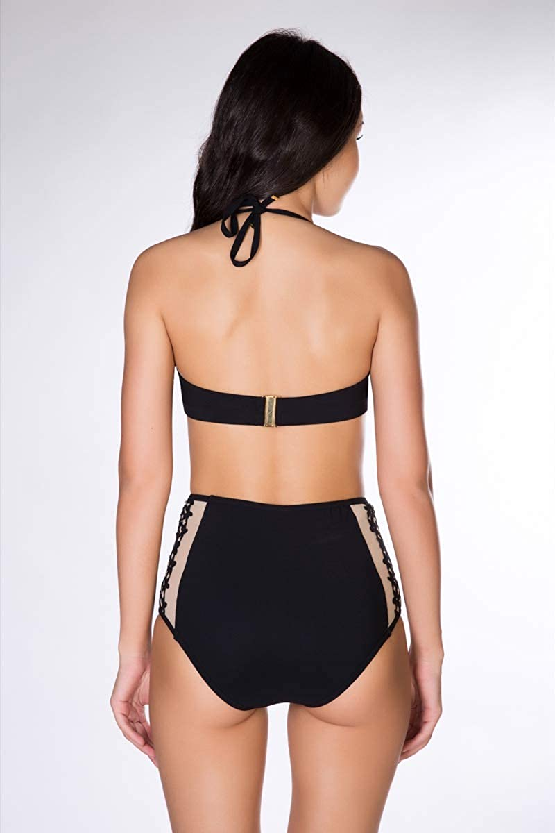 Two Piece Womens Swim Suit Luxury Imported Made in France Swimsuit for Women Swim Top and Bottom