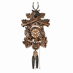 Jewels By Lux Carved Animals Hunters Cuckoo Clock