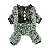 Image of Fitwarm Fuzzy Velvet Thermal Pet Clothes for Dog Pajamas PJS Coat Jumpsuit Large