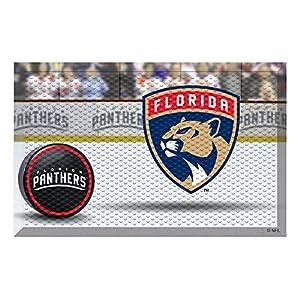 "FANMATS 19146 Team Color 19"" x 30"" Florida Panthers Scraper Mat (NHL Puck)"