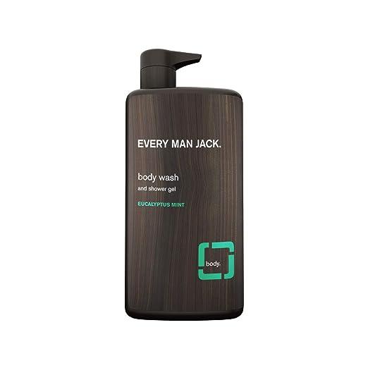 Every Man Jack Body Wash, Eucalyptus Mint, 33.8-ounce