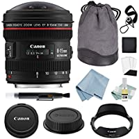 Canon EF 8-15mm f/4L Fisheye USM Lens + Canon EF 8-15mm Lens Advanced Accessory Kit - Canon Lens Bundle Includes EVERYTHING You Need to Get Started