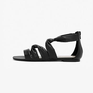 YQQ Zapatos Planos De Primavera Y Verano Tacones Bajos Sandalias Zapatos De Mujer Niña Dama Sra