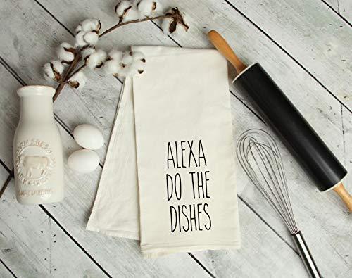 Alexa, do the dishes kitchen tea towel