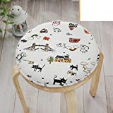 Baby cushion round stool/ Warm sponge cloth pad-M diameter33cm(13inch)