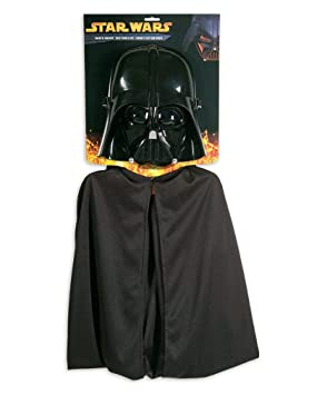 Horror-Shop máscara de Darth Vader con el cabo