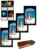 Astronaut Ice Cream Freeze Dried Neapolitan Sandwich (Chocolate-Vanilla-Strawberry) Astronaut Food & Space Fact Card Party Bundle - 4 Pack
