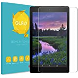 Fintie Screen Protector for All-New Amazon Fire HD 8 Tablet (Compatible with 7th and 8th Generation Tablets, 2017 and 2018 Releases), [9H Hardness] Tempered Glass Ultra Clear [Scratch-Resistant] Screen Protector Film