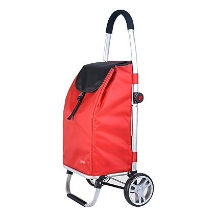 bc4cad6d7dd9c Carritos para Compras Carro plegable portátil de la casa carro rojo de la  barra de la