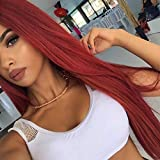 Best Lace Front Wigs - ENTRANCED STYLES Red Lace Front Wigs for Women Review
