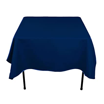 Delicieux LinenTablecloth 70 Inch Square Polyester Tablecloth Navy Blue