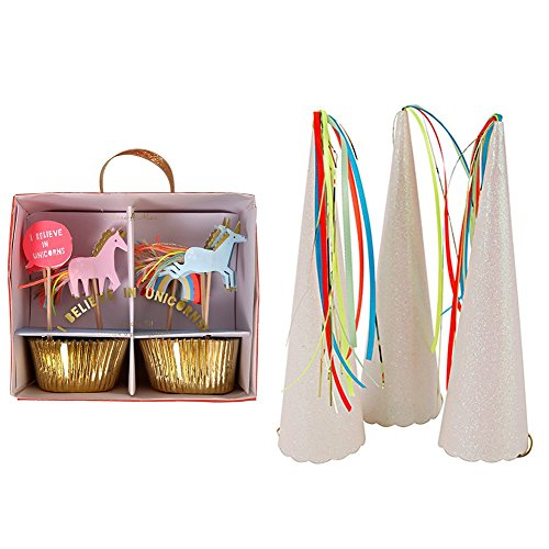Meri Meri Party Pack-Unicorn Horns (S/8) & Unicorn Cupcake Kit (Unicorn Horns)