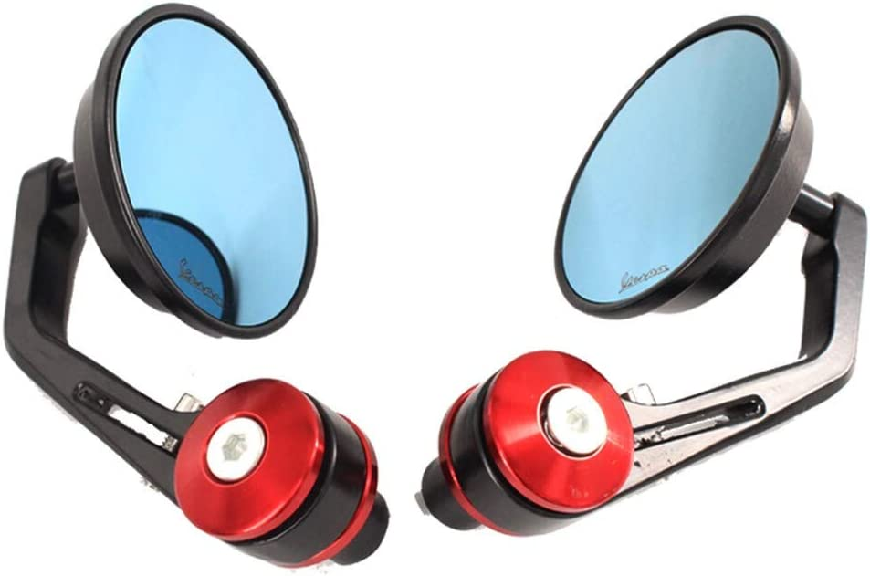 LIWIN Motorradzubeh/ör Motorrad-Spiegel aus Aluminium-Lenker End-R/ückseitenspiegel Zubeh/ör for Vespa GT GTS GTV 60 125 200 250 300 300ie Color : Black