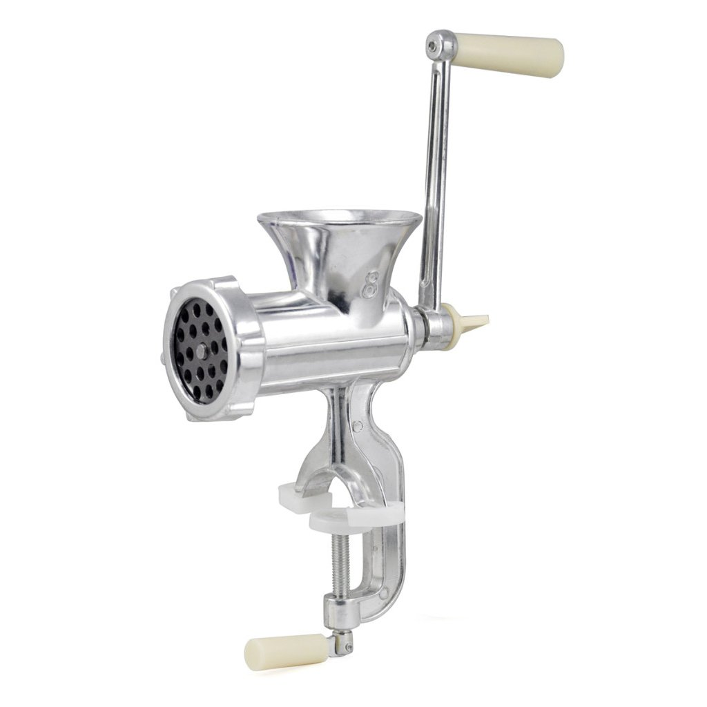 SODIAL(R) Retro Hand Operated Manual Kitchen Clamp Grinder Meat Mincer Maker Beef Sausage