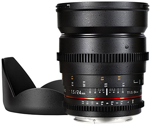 Samyang SYCV24M-MFT 24mm t1.5 Ultra Wide Cine Angle Lens for Olympus/Panasonic Micro 4/3 Cameras