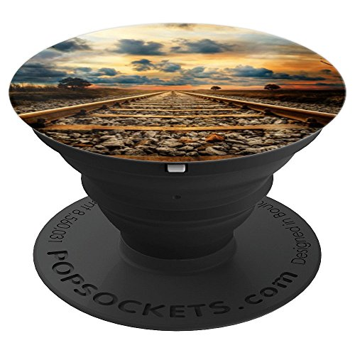 Railroad Train Tracks Locomotive Accessories - PopSockets Grip and Stand for Phones and Tablets (Locomotive Telephone)