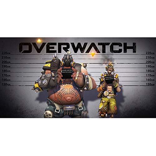 Fangeplus(R Overwatch Roadhog and Junkrat Taking Pictures Poster Print Wall Coffee Shop Bar Decor Decals 15.7''x23.6''