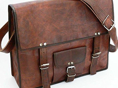 """Cool Stuff Borsa in pelle 13""""Borsa per computer portatile MacBook Crossbody Bag borsa in pelle borsa a tracolla da viaggio"""