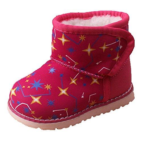 Ohmais Kinder Baby Jungen Baby Mädchen Baby Kleinkind Schuh weich rose Sterne