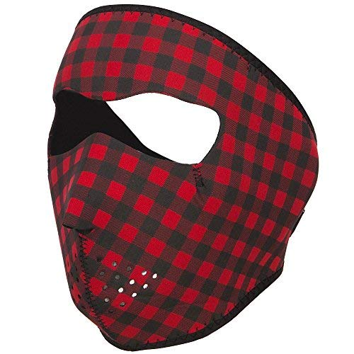 (Neoprene Full Face Mask - Red Black OSFM)