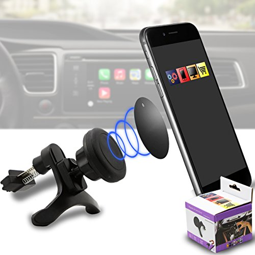 IWIO Car Mount Grip Magic Mobile Phone Cradle Air Vent Magnetic Phone Holder Universal Car Mount for OnePlus (Oneplusone Mobile Phone)
