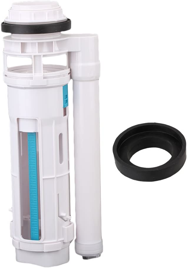 Toilet Flush Valve Push Button Valve Dual Flush Syphon Bottom 18cm