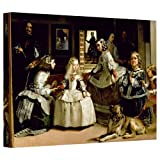 ArtWall 'Las Meninas, Detail of The Lower Half Depicting The Family of Philip IV of Spain' Gallery-Wrapped Canvas Artwork by Diego Velazquez, 12 by 18-Inch