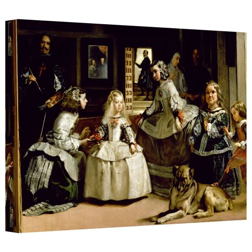 ArtWall 'Las Meninas, Detail of The Lower Half Depicting The Family of Philip IV of Spain' Gallery-Wrapped Canvas Artwork by Diego Velazquez, 16 by 24-Inch by ArtWall