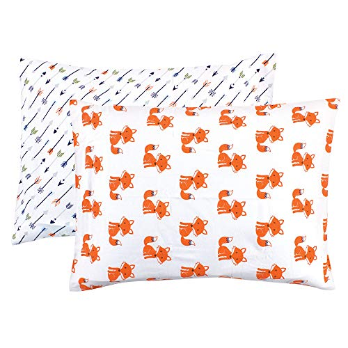Hudson Baby Unisex Baby and Toddler Cotton Toddler Pillow Case, Foxes, One Size