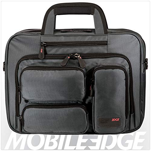Mobile Edge Graphite Series Corporate Laptop Briefcase 16 Inch PC and 17 Inch Mac, Premium Exterior Material, Graphite, for Men, Women, Business, Students MEGBCC