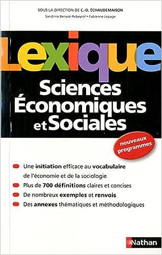 En ligne Lexique de Sciences Économiques et Sociales epub pdf