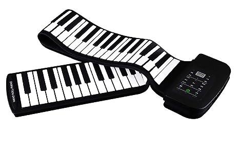 Piano Portátil Flexible De 88 Teclas Con Teclado Suave USB Plegable, Instrumento De Piano Electrónico