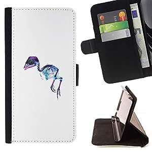 Momo Phone Case / Flip Funda de Cuero Case Cover - X Ray Emu Pájaro;;;;;;;; - Samsung Galaxy A5 ( A5000 ) 2014 Version