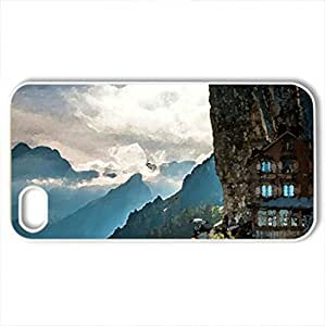APPENZELLERLAND - Case Cover for iPhone 4 and 4s (Mountains Series, Watercolor style, White)