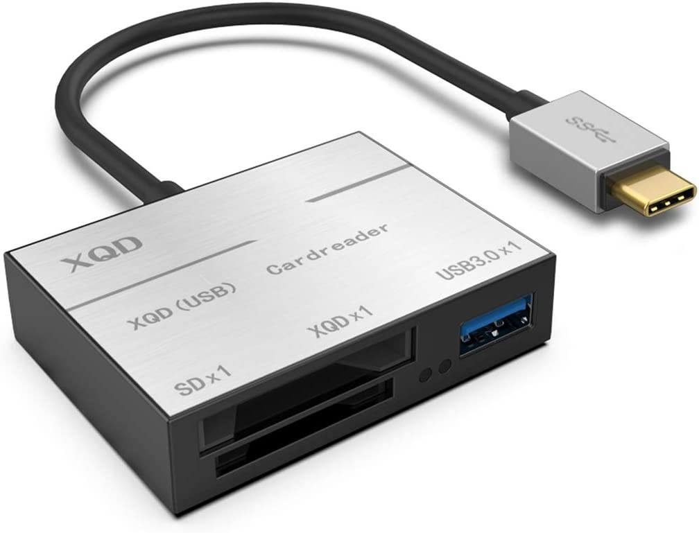 Color : Black Yesbaby Type-C to XQD//SD//USB 3.0 Card Reader USB-C HUB High Speed Card Reader