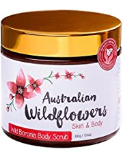 All Natural Exfoliating Body Scrub with Australian Wild Boronia Essential Oil for Healthy Skin – 10.6 oz / 300g