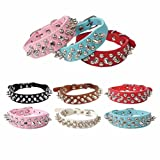 #10: Axchongery Pet Collars, Adjustable Dog Rivet Spiked Studded Neck Strap Puppy Necklace